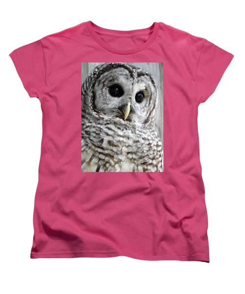 Women's T-Shirt (Standard Cut) featuring the photograph Barred Owl by Rebecca Overton