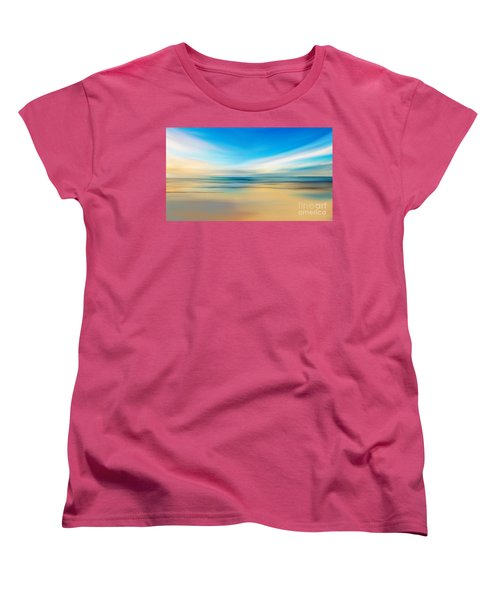 Women's T-Shirt (Standard Cut) featuring the digital art Beach Sunrise by Anthony Fishburne