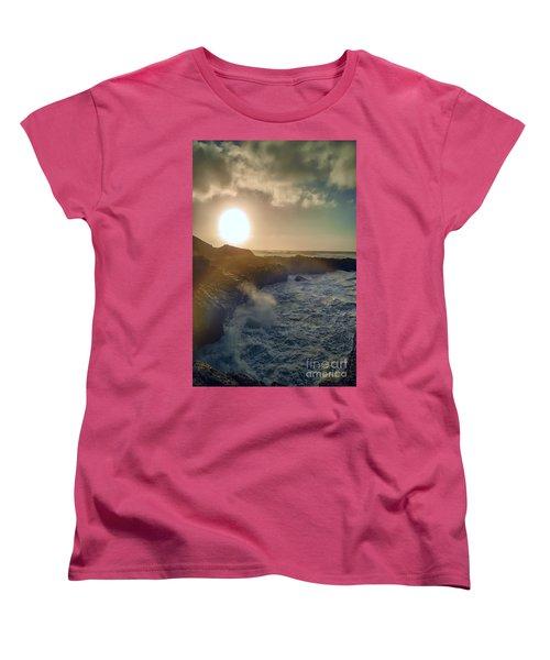Blueside Women's T-Shirt (Standard Cut) by Billie-Jo Miller