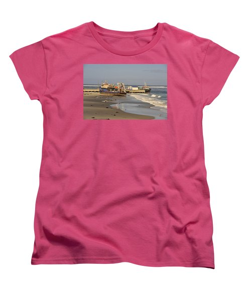 Boats Aground Women's T-Shirt (Standard Cut) by Patrick Kain