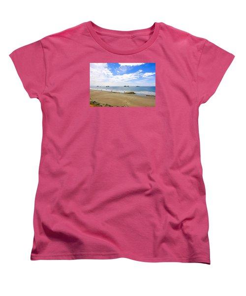 California Coastline Women's T-Shirt (Standard Cut) by Chris Smith