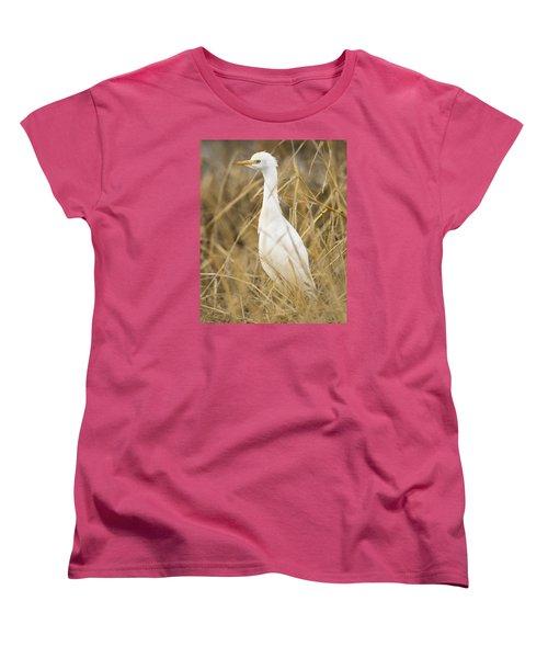 Cattle Egret Women's T-Shirt (Standard Cut) by Doug Herr