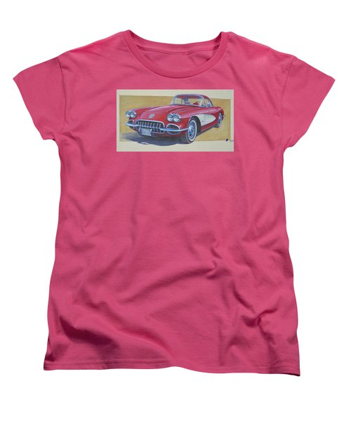Women's T-Shirt (Standard Cut) featuring the painting Chevy. by Mike Jeffries
