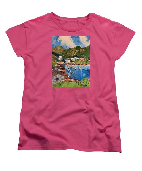 Coastal Village, Newfoundland Women's T-Shirt (Standard Cut) by David Gilmore