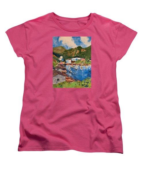 Coastal Village, Newfoundland Women's T-Shirt (Standard Cut)