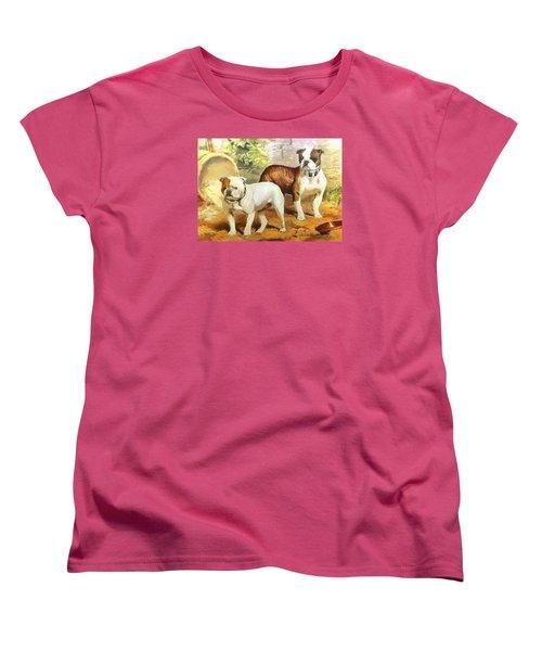 English Bulldogs Women's T-Shirt (Standard Cut) by Charmaine Zoe