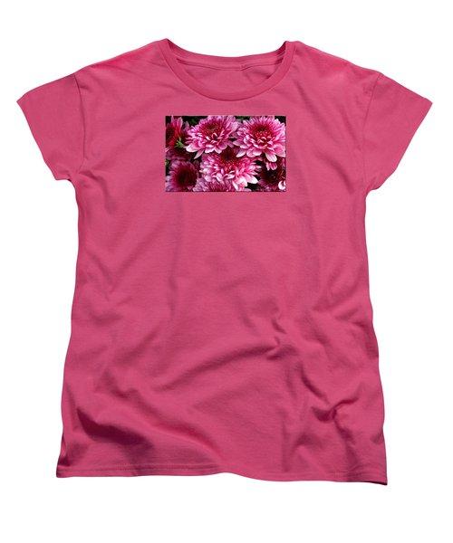 Fall Flowers Women's T-Shirt (Standard Cut) by Mikki Cucuzzo