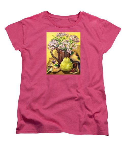 Women's T-Shirt (Standard Cut) featuring the painting Fall Still Life by Laura Aceto