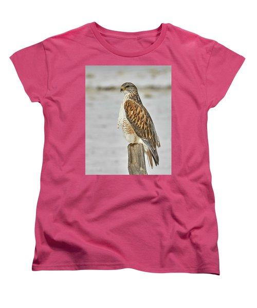 Ferruginous Hawk Women's T-Shirt (Standard Cut) by Doug Herr