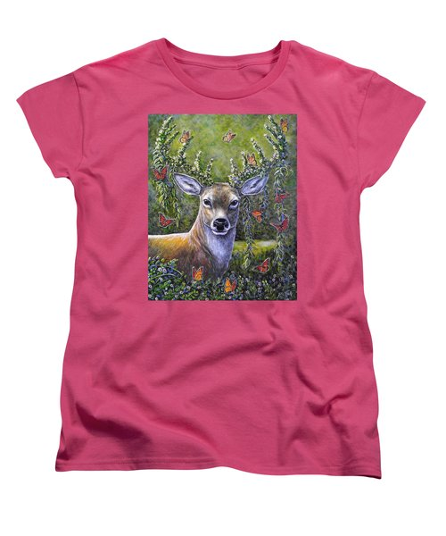 Forest Monarch Women's T-Shirt (Standard Cut) by Gail Butler