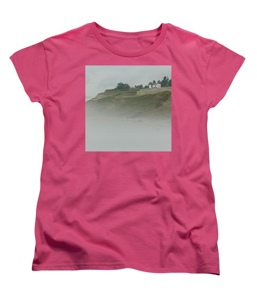 Ft. Casey Lighthouse Women's T-Shirt (Standard Cut) by Tony Locke