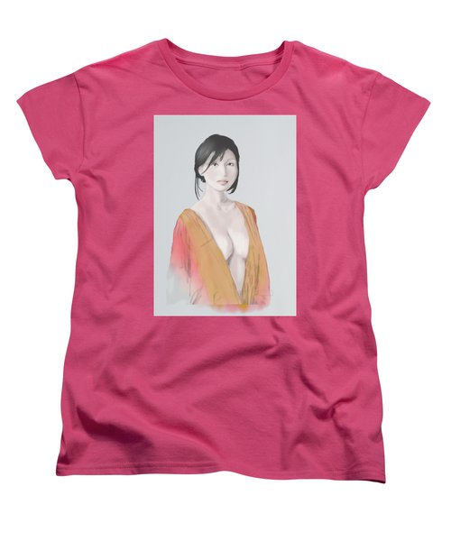 Women's T-Shirt (Standard Cut) featuring the mixed media Geisha by TortureLord Art