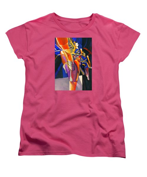Women's T-Shirt (Standard Cut) featuring the painting Golden Steps by Georg Douglas