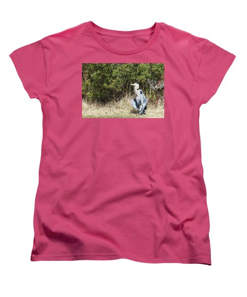 Women's T-Shirt (Standard Cut) featuring the photograph Henry The Heron by Benanne Stiens