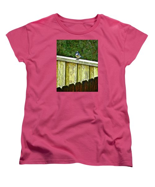 Hiding In Safety Women's T-Shirt (Standard Cut) by Nancy Marie Ricketts