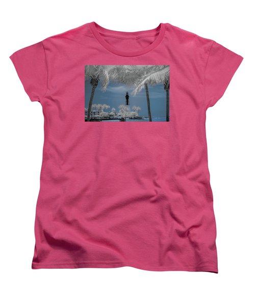 Women's T-Shirt (Standard Cut) featuring the photograph Hillsboro Inlet Lighthouse by Louis Ferreira