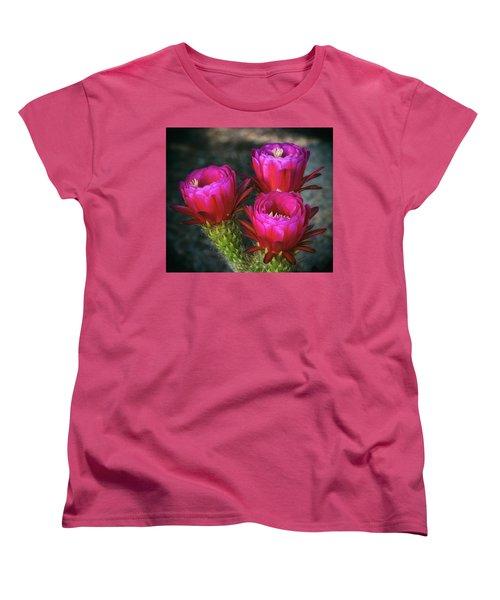 Women's T-Shirt (Standard Cut) featuring the photograph Hot Pink  by Saija Lehtonen