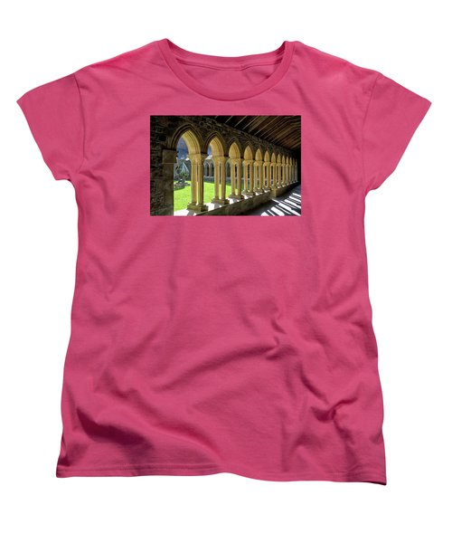 Iona Abbey Scotland Women's T-Shirt (Standard Cut) by Jacqi Elmslie