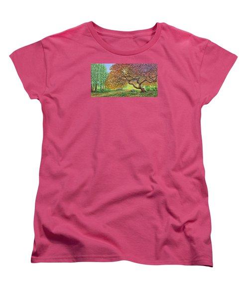 Japanese Maple Women's T-Shirt (Standard Cut) by Jane Girardot