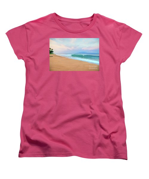 Women's T-Shirt (Standard Cut) featuring the photograph Ka'anapali Waves by Kelly Wade