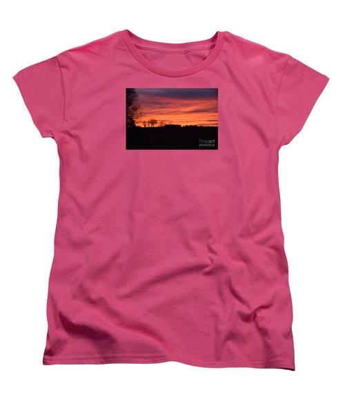 Women's T-Shirt (Standard Cut) featuring the photograph Kansas Sunset by Mark McReynolds