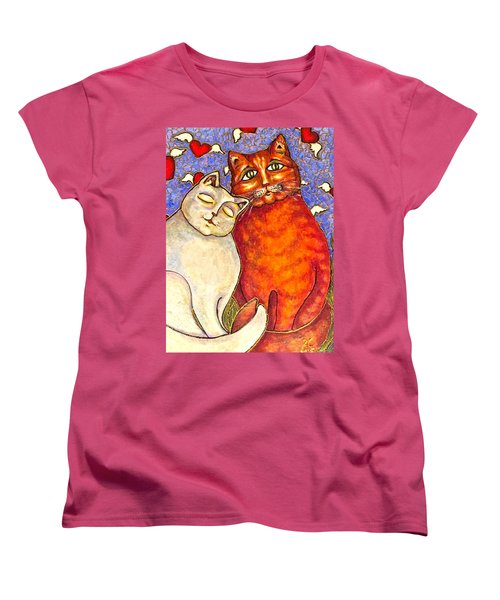 Women's T-Shirt (Standard Cut) featuring the painting Love Is In The Air by Rae Chichilnitsky
