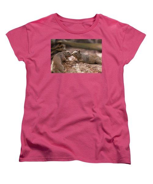 Women's T-Shirt (Standard Cut) featuring the photograph Love Is In The Air  by Saija Lehtonen