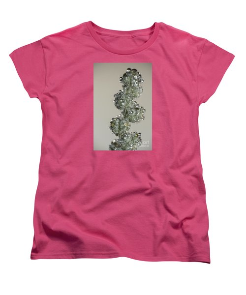 Women's T-Shirt (Standard Cut) featuring the photograph Meadow Flower And Drops by Odon Czintos