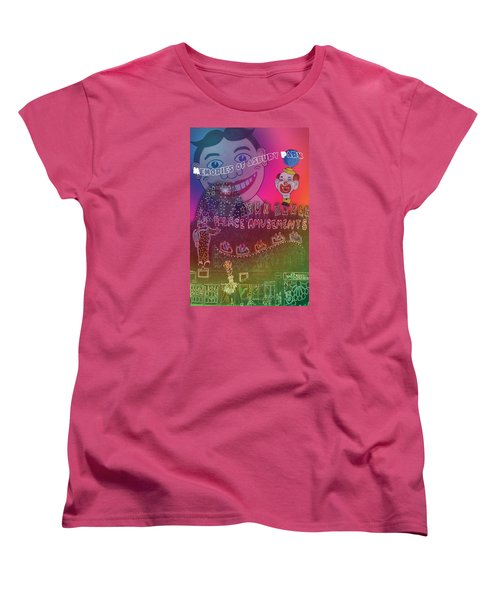Women's T-Shirt (Standard Cut) featuring the painting Memories Of Asbury Park by Patricia Arroyo