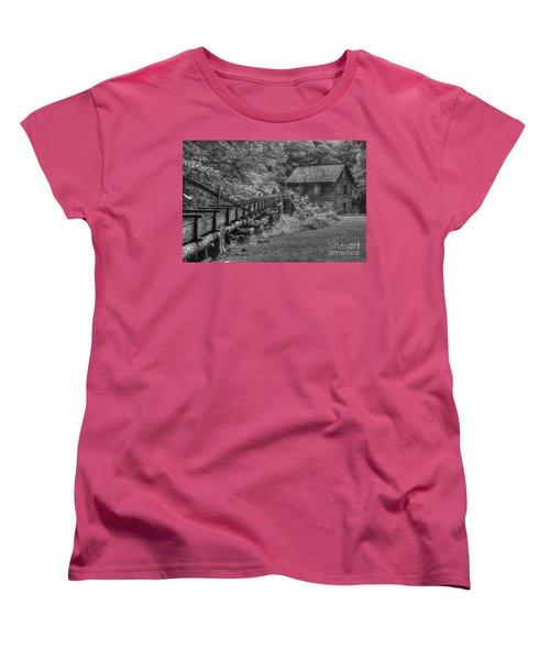 Women's T-Shirt (Standard Cut) featuring the photograph Mingus Mill 3 Mingus Creek Great Smoky Mountains Art by Reid Callaway