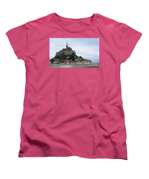 Mont St Michel Women's T-Shirt (Standard Cut) by Therese Alcorn