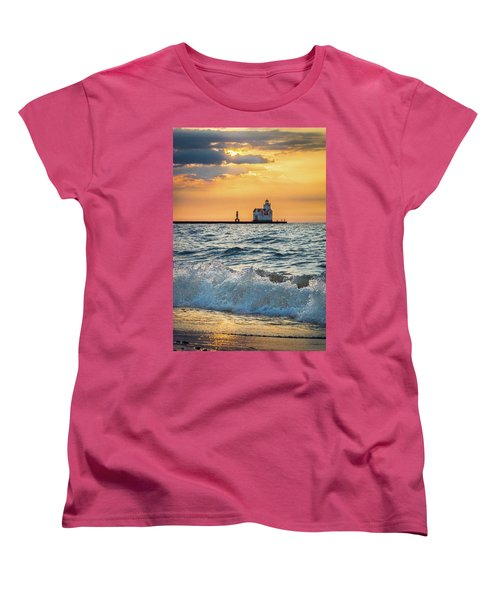 Women's T-Shirt (Standard Cut) featuring the photograph Morning Dance On The Beach by Bill Pevlor