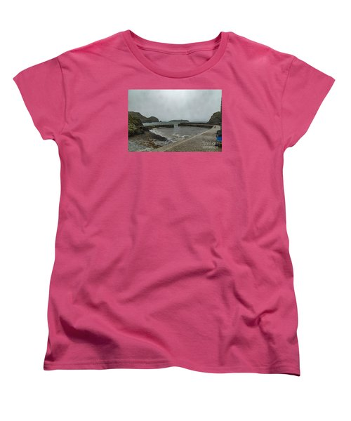 Women's T-Shirt (Standard Cut) featuring the photograph Mullion Cove by Brian Roscorla
