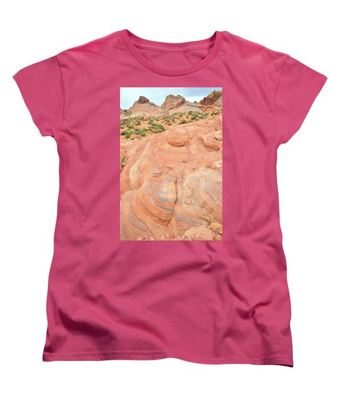 Women's T-Shirt (Standard Cut) featuring the photograph Multicolored Wave In Valley Of Fire by Ray Mathis