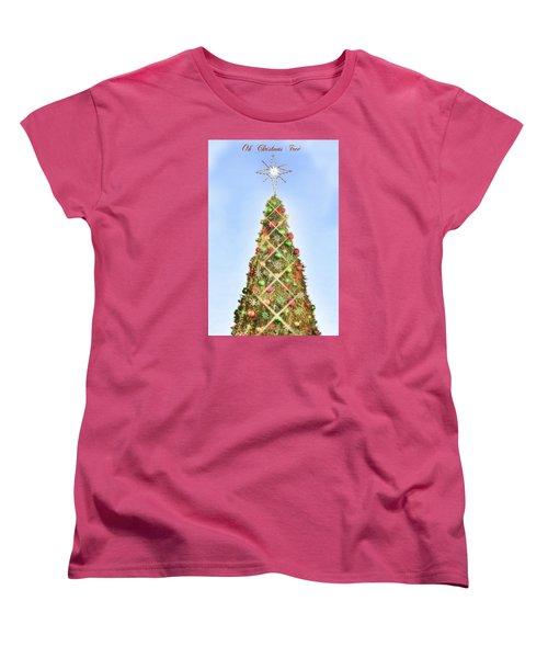Women's T-Shirt (Standard Cut) featuring the photograph Oh Christmas Tree by Joan Bertucci