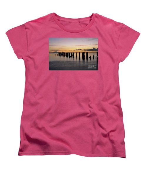 Old Naples Pier Women's T-Shirt (Standard Cut) by Kelly Wade
