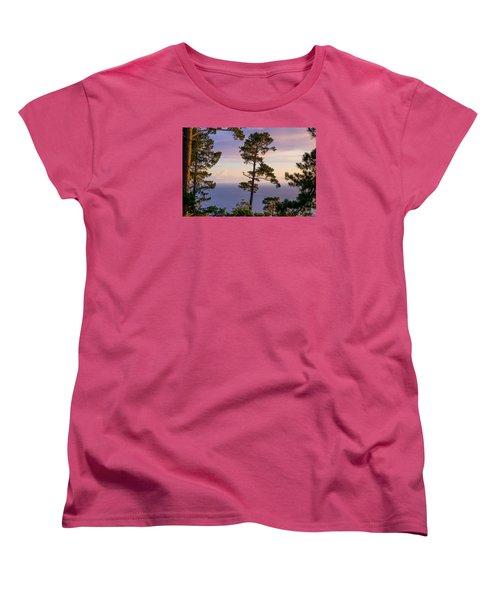 On The Edge Women's T-Shirt (Standard Cut) by Derek Dean