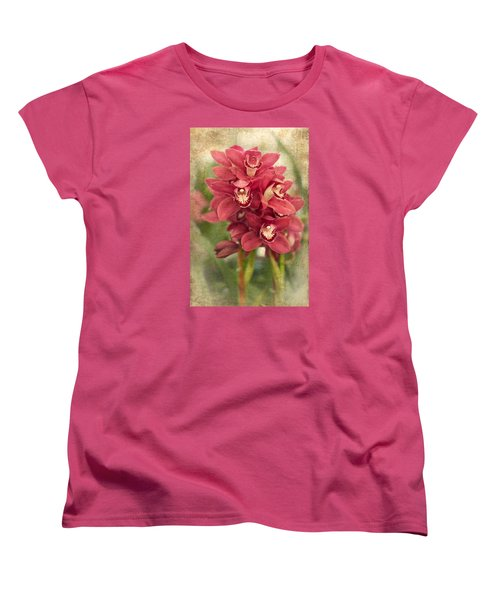 Orchid Women's T-Shirt (Standard Cut) by Catherine Lau