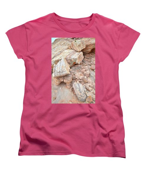 Women's T-Shirt (Standard Cut) featuring the photograph Ornate Sandstone In Valley Of Fire by Ray Mathis