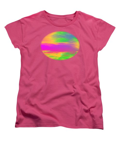 Painted Sky - Abstract Women's T-Shirt (Standard Cut) by Linda Hollis