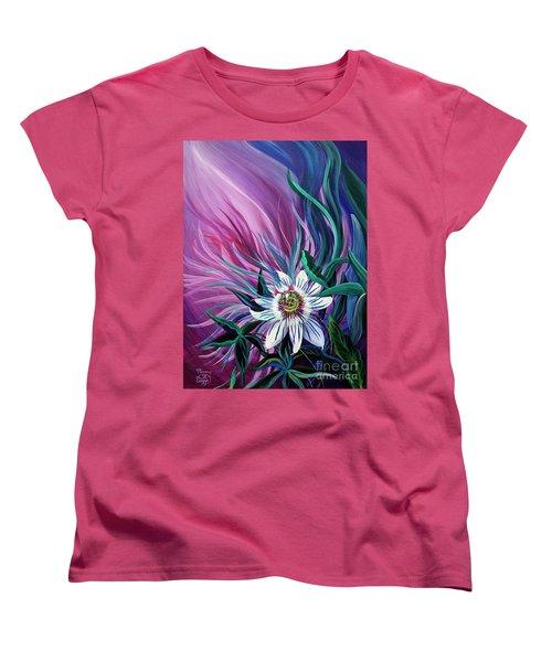Passion Flower Women's T-Shirt (Standard Cut) by Nancy Cupp