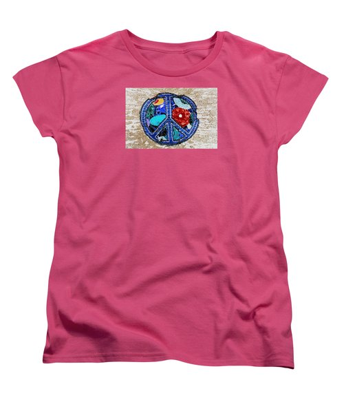 Peace  Women's T-Shirt (Standard Cut) by Juls Adams