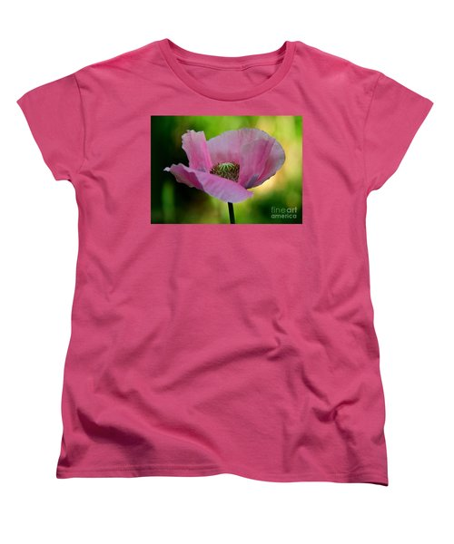 Pink Poppy Women's T-Shirt (Standard Cut) by Lisa L Silva