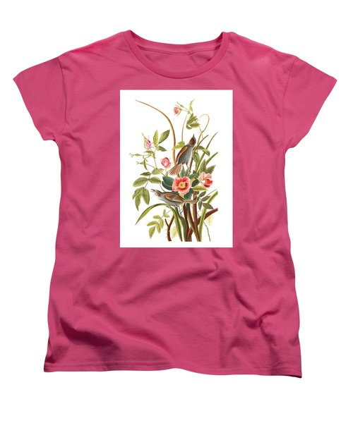 Women's T-Shirt (Standard Cut) featuring the photograph Pink Roses by Munir Alawi