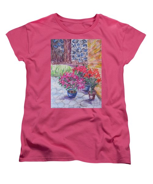 Poinsettias - Gifted Women's T-Shirt (Standard Cut) by Judith Espinoza