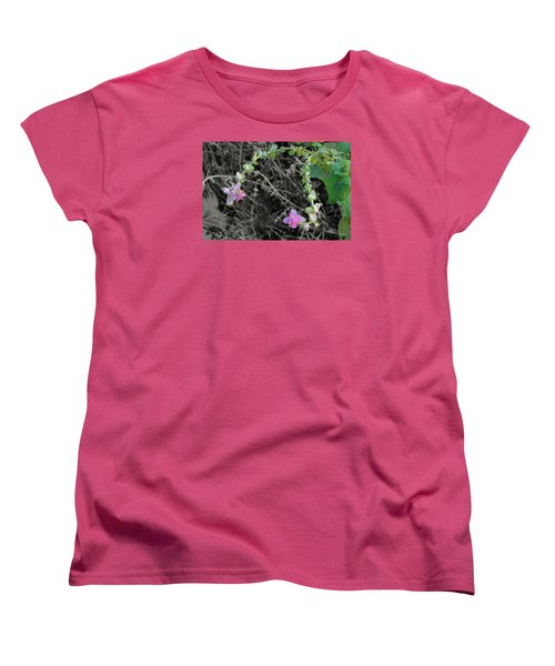 Women's T-Shirt (Standard Cut) featuring the photograph Pop Of Color  by Deborah  Crew-Johnson