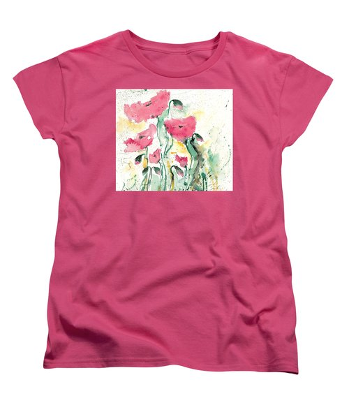 Poppies 10 Women's T-Shirt (Standard Cut) by Ismeta Gruenwald