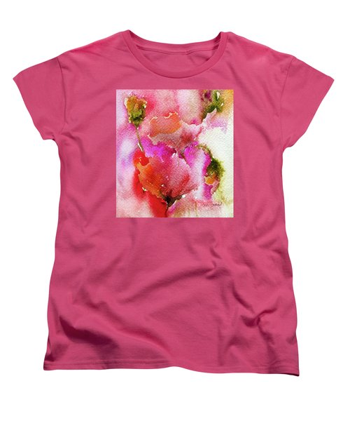 Women's T-Shirt (Standard Cut) featuring the painting Poppy Garden by Linde Townsend