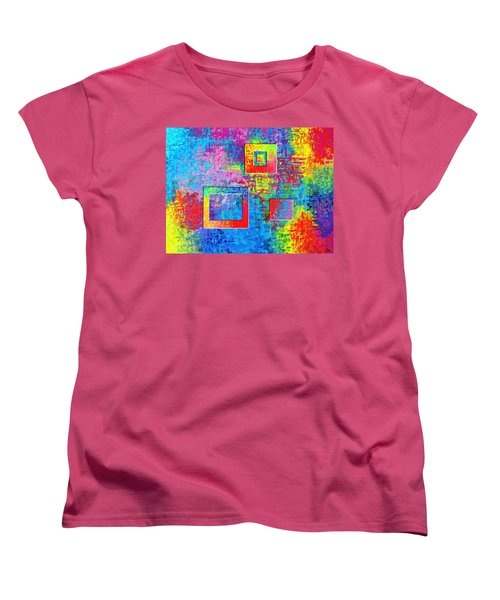 Portals Of Color Women's T-Shirt (Standard Cut) by Jeremy Aiyadurai