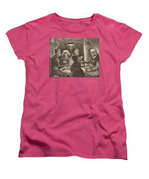 Potato Eaters, 1885 Women's T-Shirt (Standard Cut) by Vincent Van Gogh